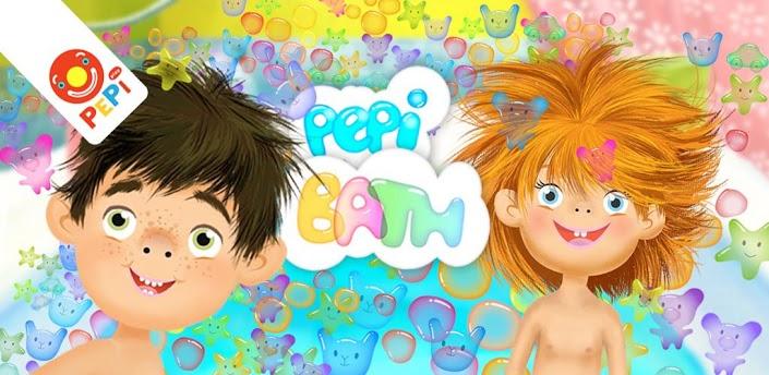 Imagen: Ilustración que muestra personajes de la aplicación Pepibath