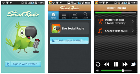 Pantalla de The Social Radio