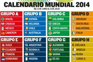 Calendario Mundial Futbol 2014