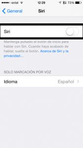 Tercer paso, activa Siri