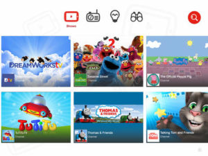 Pantalla de Youtube Kids