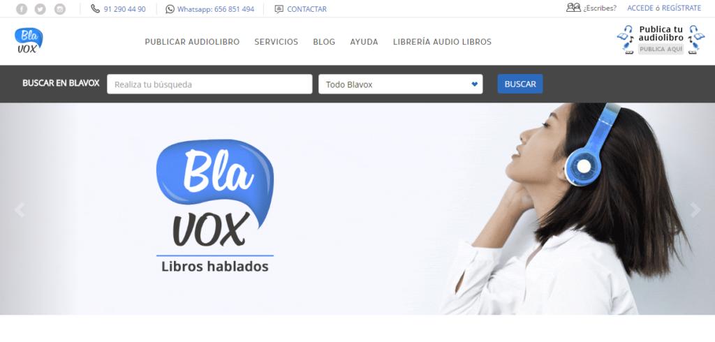 Página web Blavox