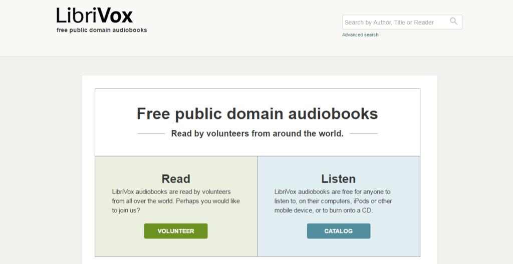 Página web LibriVox