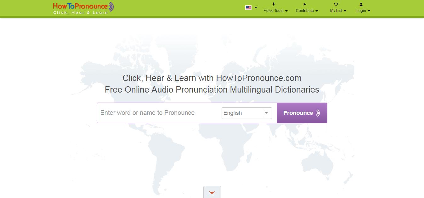 Página web How to pronounce